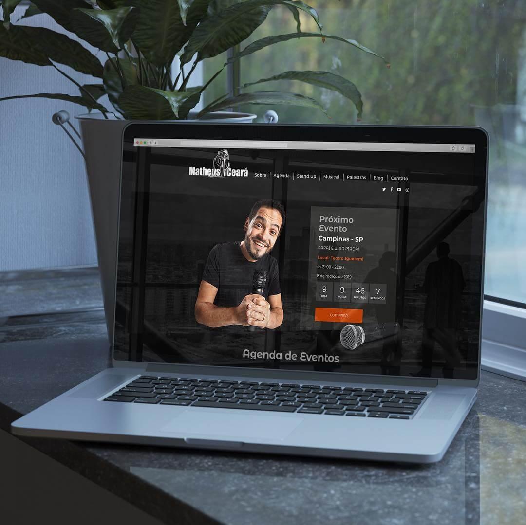 Criação de Website – Matheus Ceará – Comediante Stand-Up