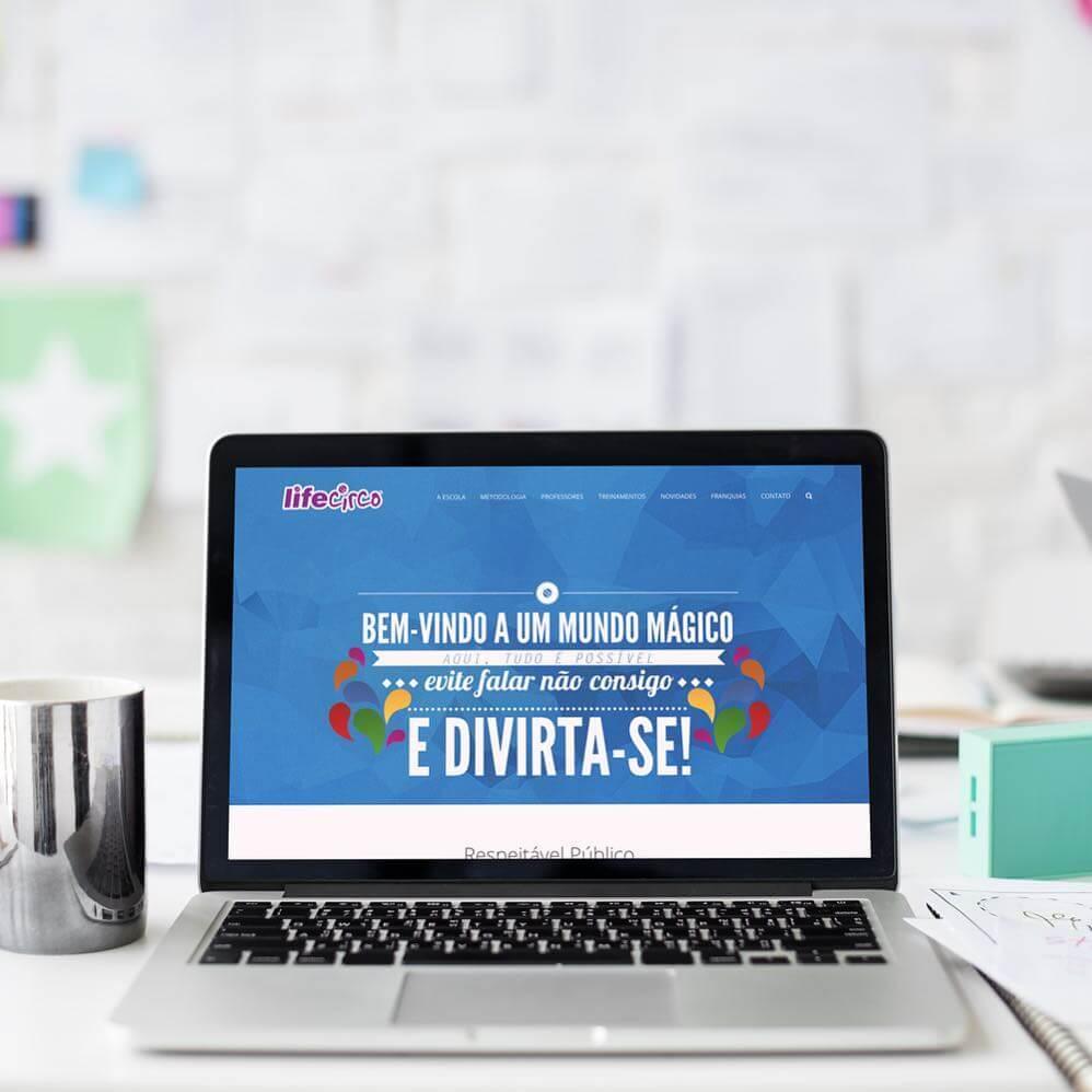 Criação de Website – LifeCirco – Escola de Ensino Circense